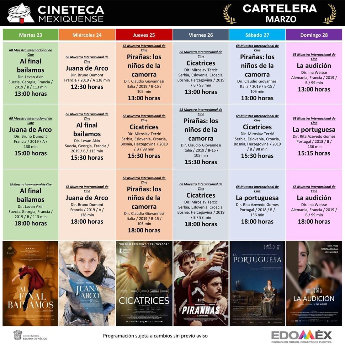 Inicia 68 muestra internacional de cine en la cineteca mexiquense