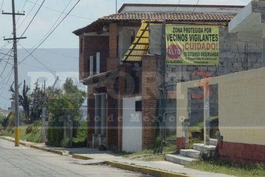 Se arman de valor vecinos de Zinacantepec