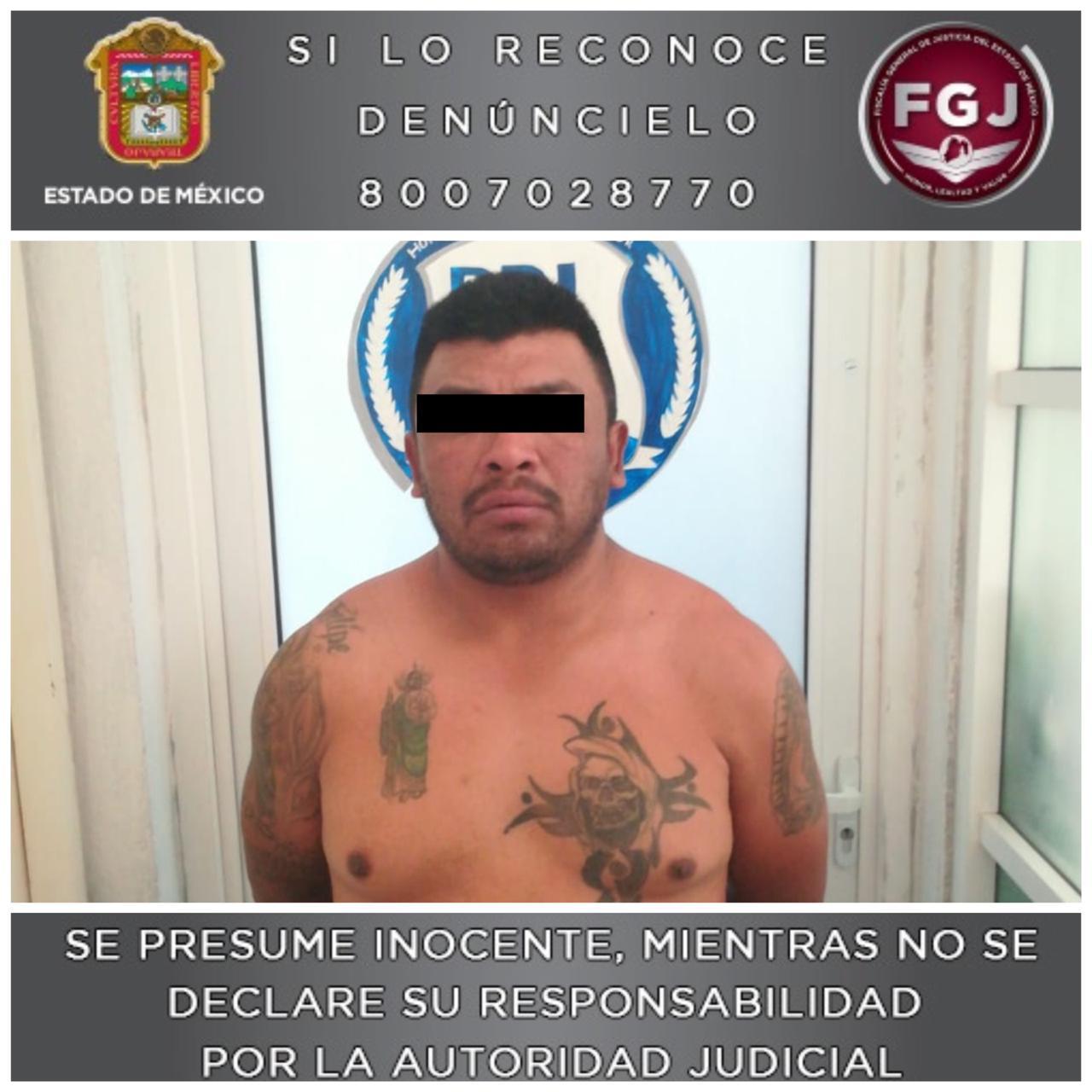 Detienen a sujeto investigado en un robo a los usuarios de una unidad de transporte público en Cuautitlán Izcalli