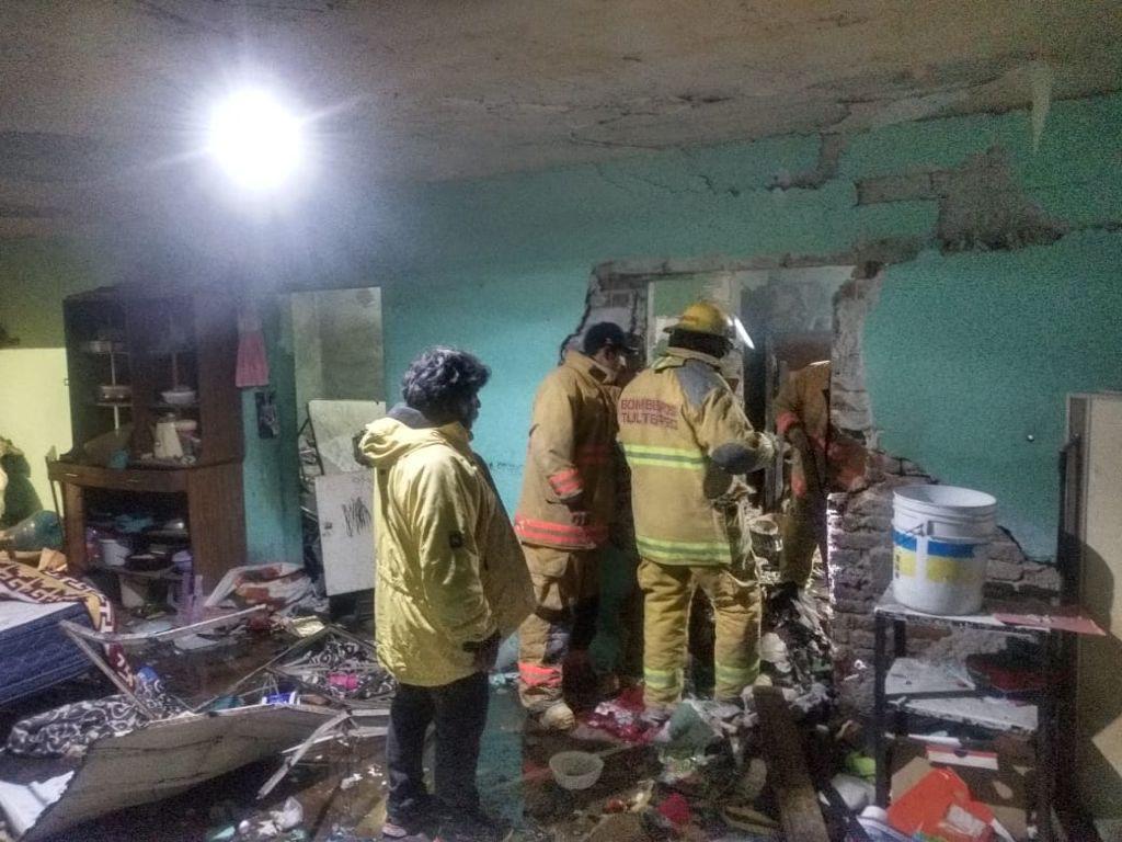 Deja explosión de material pirotécnico en Tultepec dos personas lesionadas