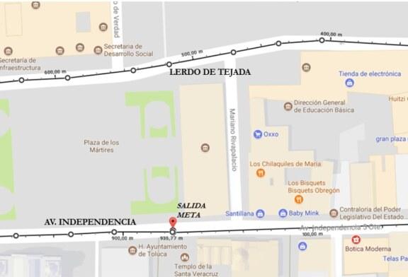 Informa Toluca cierre parcial de calles por Primera Vuelta de la Revolución Mexicana