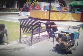 Rehabilitación permanente de juegos infantiles en parques y jardines de Toluca