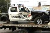 Detiene la SS a adolescentes que al huir en auto robado chocan contra patrulla