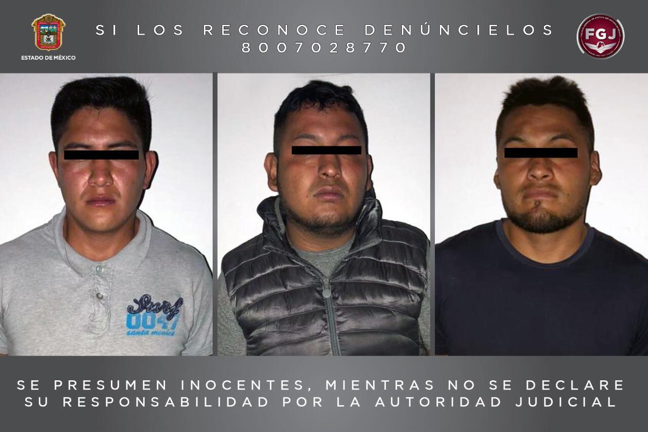 Vinculan a proceso a tres individuos investigados por un robo a cuentahabiente en Ixtapaluca