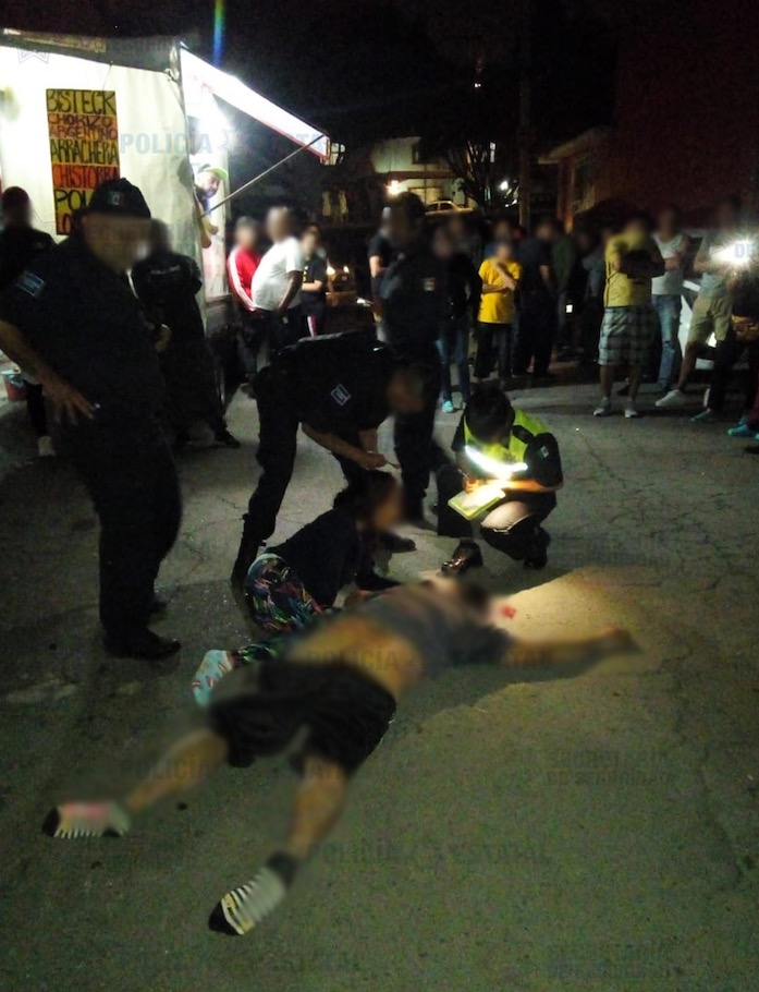 Detienen a dos probables asaltantes que fueron agredidos por vecinos