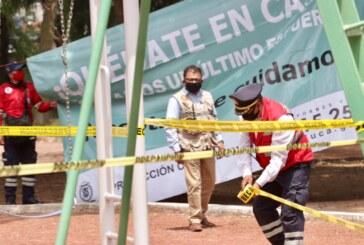 Continúa PCyB de Toluca con el cierre de parques y jardines