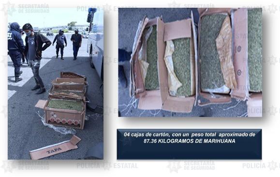 Capturan a dos probables narcomenudistas que se dedicaban al trasiego de marihuana