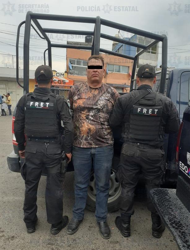 Tras una persecución policías estatales detienen a hombre relacionado en delitos contra la salud