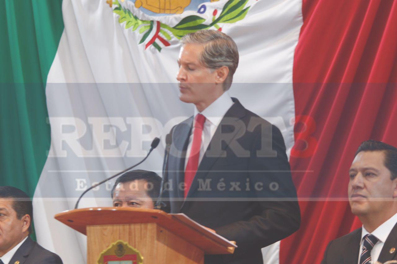 «Mi compromiso es cero tolerancia a la corrupción», advierte Alfredo Del Mazo