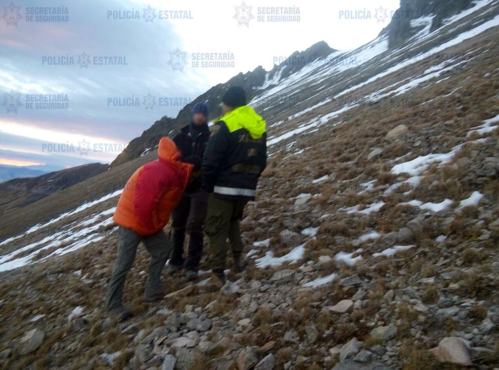 Secretaría de seguridad localiza cuerpo de persona extraviada en el nevado de Toluca