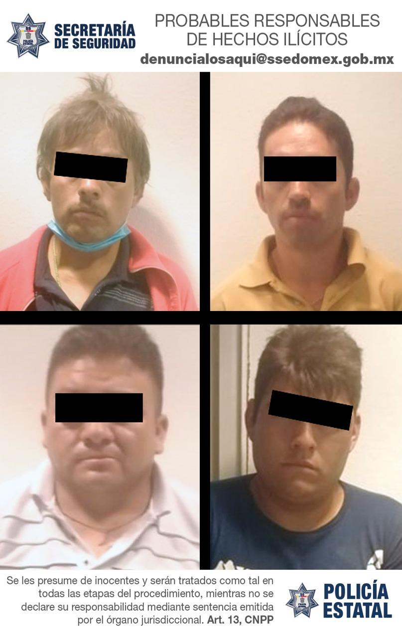 Secretaría de seguridad captura en flagrancia a cuatro posibles implicados en tentativa de robo de vehículo con violencia