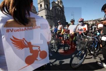 Se manifiestan para exigir justicia por ciclista arrollada