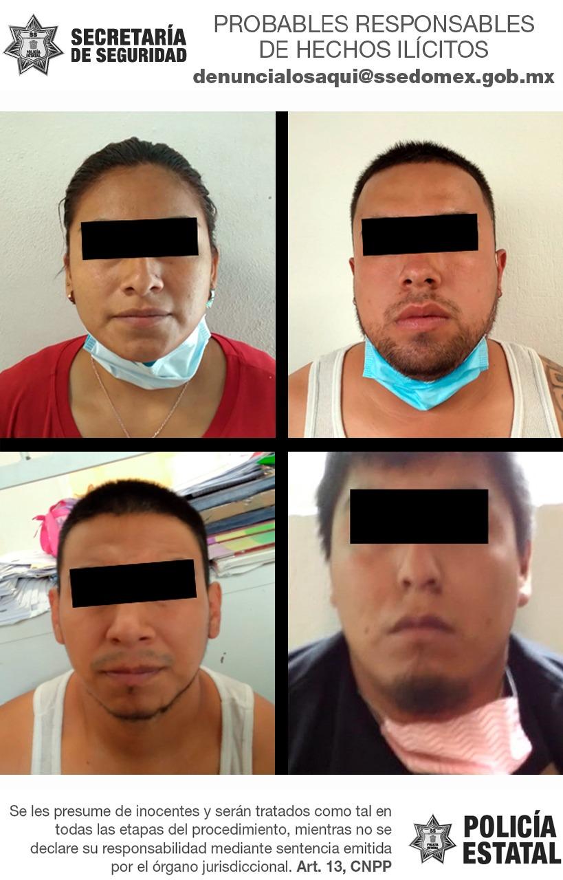 Secretaría de seguridad detiene a cuatro probables integrantes de una célula delictiva dedicada a extorsionar a choferes del transporte público