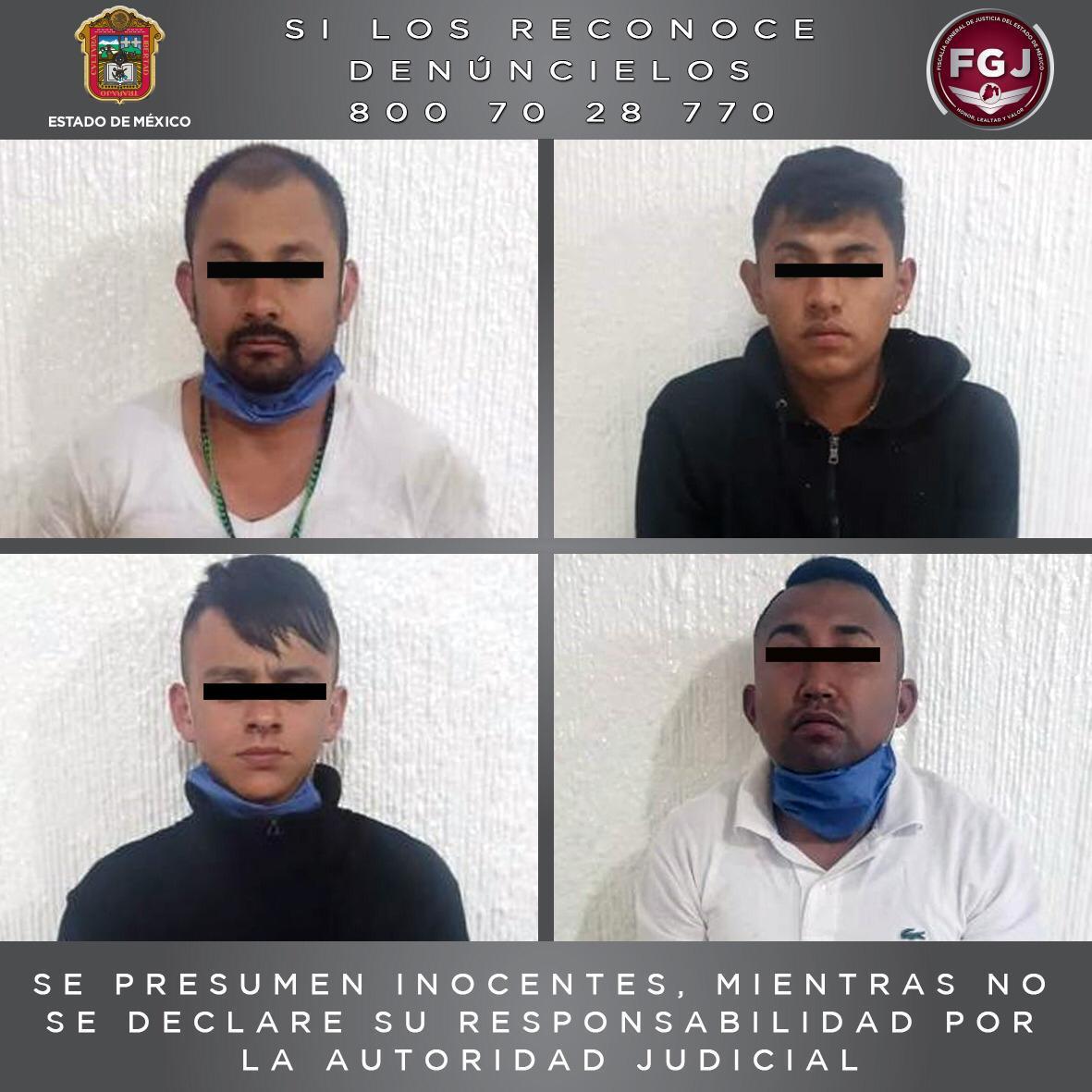 Inician proceso legal en contra de cuatro sujetos por extorsión y robo con violencia