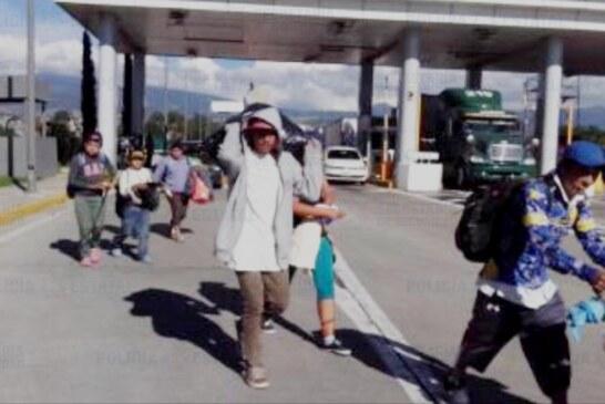 Secretaría de seguridad mantiene acciones de auxilio y apoyo a caravana migrante en su paso por el Edoméx