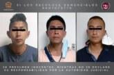 Vinculan a proceso a tres probables extorsionadores detenidos en Toluca