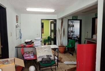 Saqueo en la Escuela Secundaria Dr. Gustavo Baz Prada, la policía de Juan Rodolfo nada hizo.