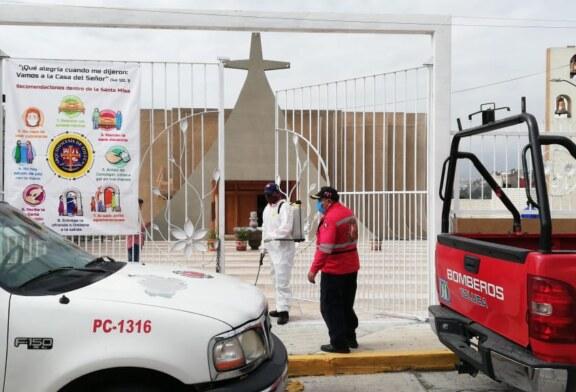 Verificarán autoridades que iglesias y templos cumplan con disposiciones sanitarias y de aforo