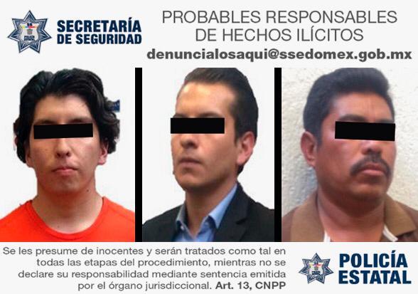 Tres sujetos fueron detenidos por la secretaría de seguridad, por simulación de vehículo oficial; uno de los implicados dijo pertenecer al crimen organizado