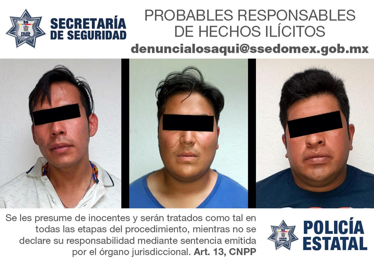 Detienen a tres hombres probables implicados en el robo de vehículos
