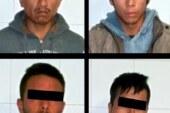 Tras persecución, detienen a cuatro probables responsables de posesión ilegal de estupefacientes y un arma de fuego