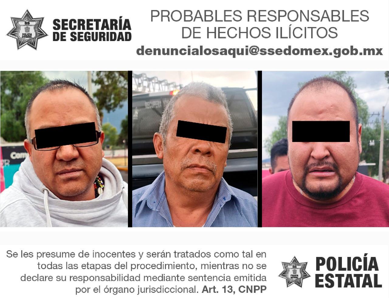 Recuperan camioneta con reporte de robo y detienen a tres posibles responsables
