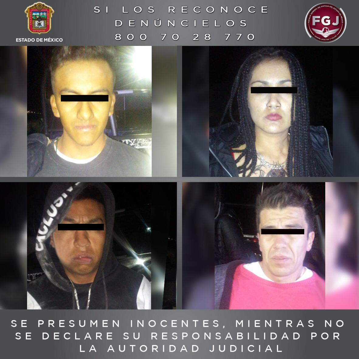 Catean un inmueble en Huixquilucan donde fueron asegurados envoltorios con droga y detenidas cuatro personas