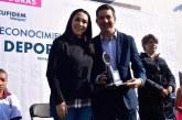 Reconoce Gaby Gamboa esfuerzo, persistencia y ejemplo de deportistas