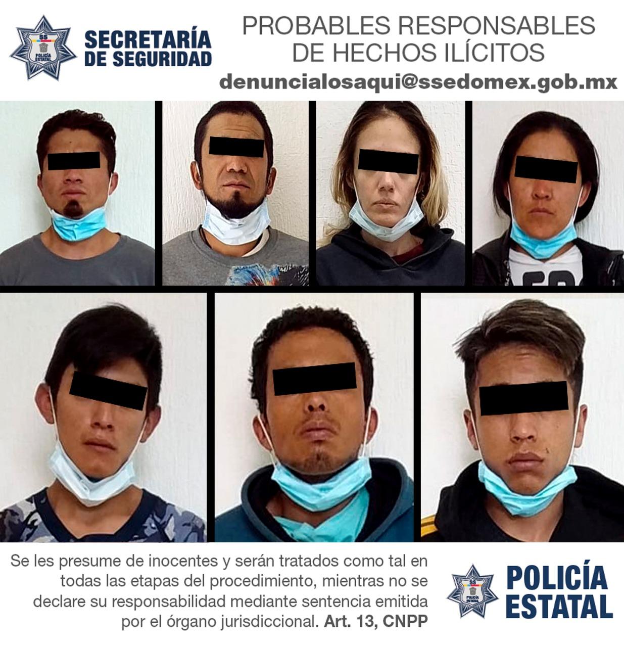 Detienen a siete personas posibles responsables de delitos contra la salud.