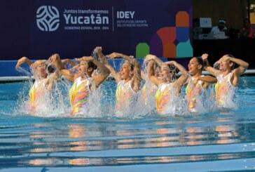 Motivan nadadoras artísticas mexiquenses a competidoras de olimpiada nacional y nacional juvenil