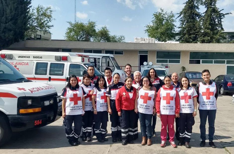 Capacitan a personal de Cruz Roja Edomex en administración y reducción de estrés