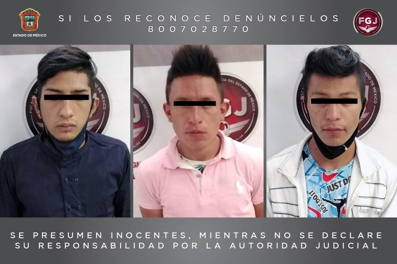Vinculan a proceso a tres sujetos que habrían asaltado a cinco personas en Cuautitlán Izcalli