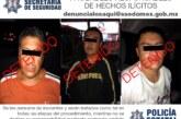 Trabajos de investigación permiten la detención de tres hombres posiblemente implicados en robos a tiendas de conveniencia