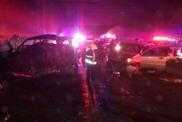 Brinda secretaría de seguridad apoyo en accidente múltiple