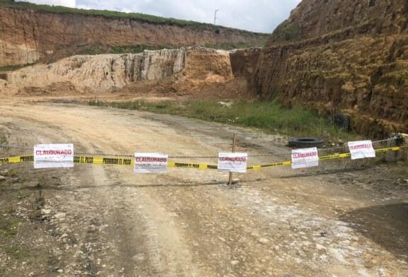 Clausura propaem dos minas en los municipios de Xonacatlán y Calimaya