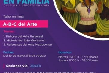Preparan especialistas taller sobre historia del arte mediante plataforma digital zoom