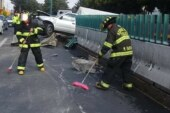 Realizan Bomberos de Toluca servicio preventivo contra incendio en Paseo Tollocan