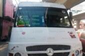 Frustran policías estatales y municipales robo a unidad de transporte público