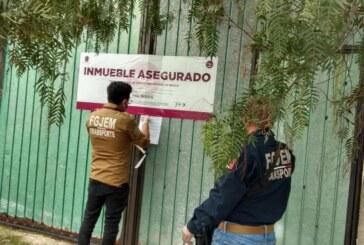 Asegura FGJEM tres inmuebles en Tecámac, Chiautla y Chicoloapan donde fueron encontrados vehículos robados