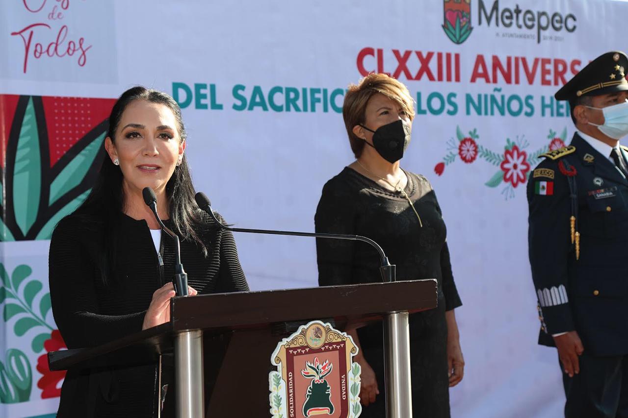 Reforzar valores y renovar esperanza, herencia de la gesta heroica de los niños héroes: Gaby Gamboa