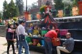 Llegan los artesanos de Huamantla a Metepec.