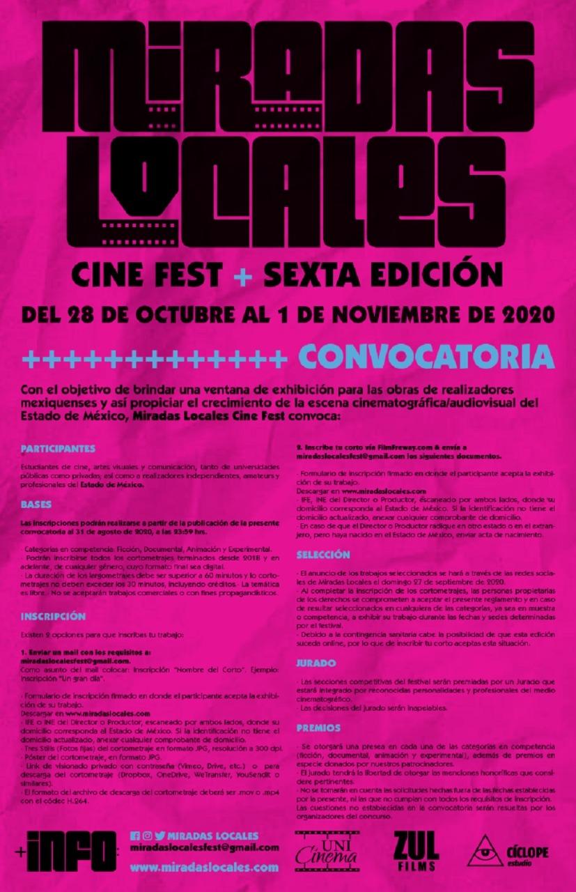 """Invitan a participar en festival de cine """"miradas locales"""""""