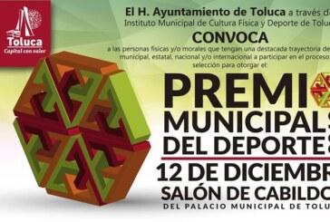 Convoca Toluca a participar en el Premio Municipal del Deporte 2018