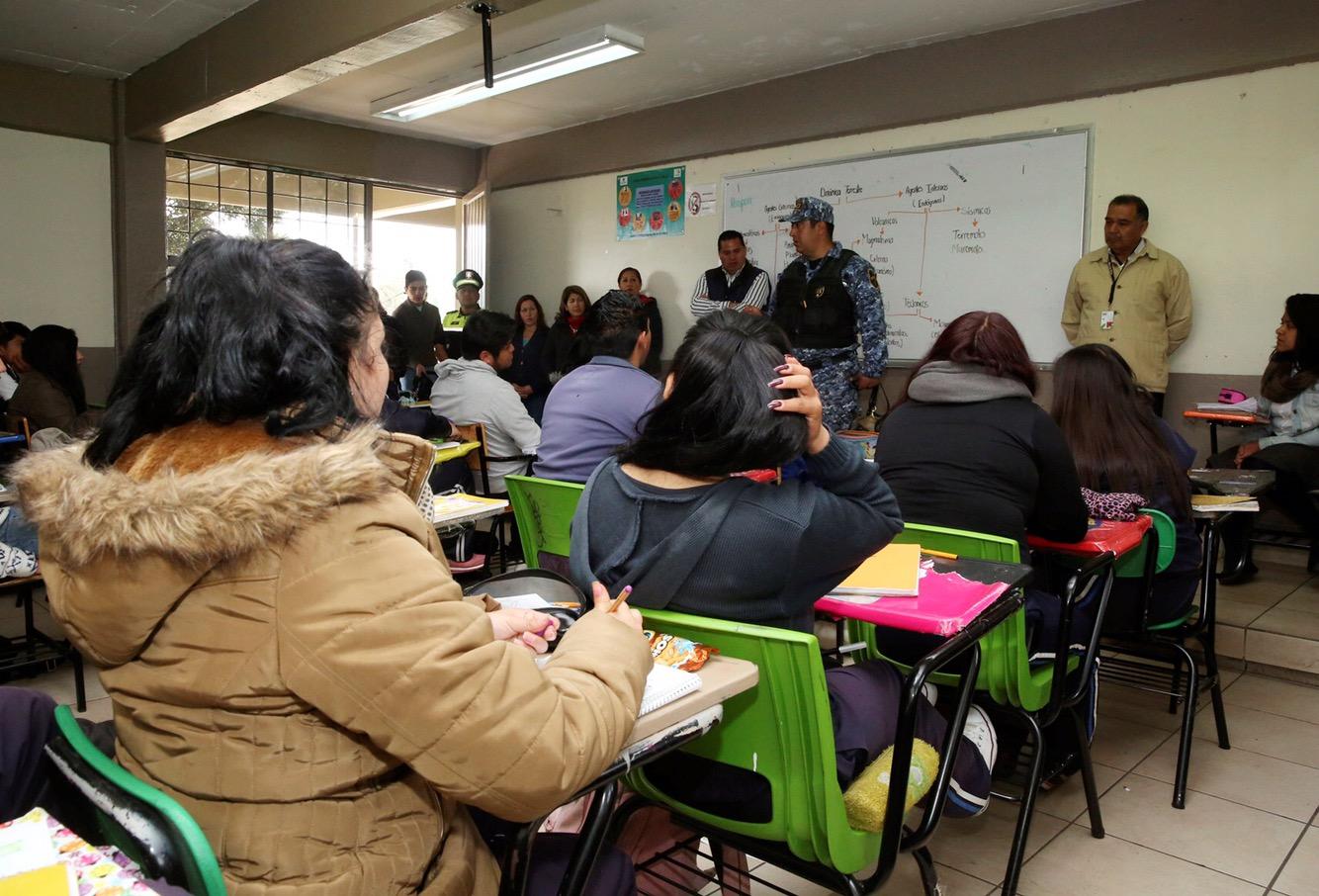Continúan en Metepec operativo mochila segura en escuelas