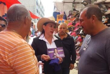 Pide Teresa Castell a mexiquenses que no permitan que partidos de izquierda vean al Edoméx como botín político