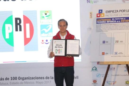 Asume del Mazo compromisos con la niñez mexiquense