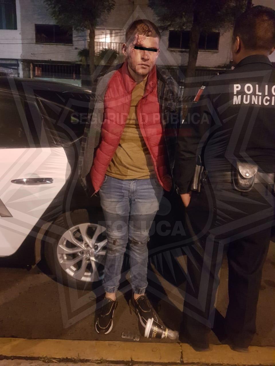 Captura Policía de Toluca a peligroso sujeto presuntamente dedicado al robo con violencia
