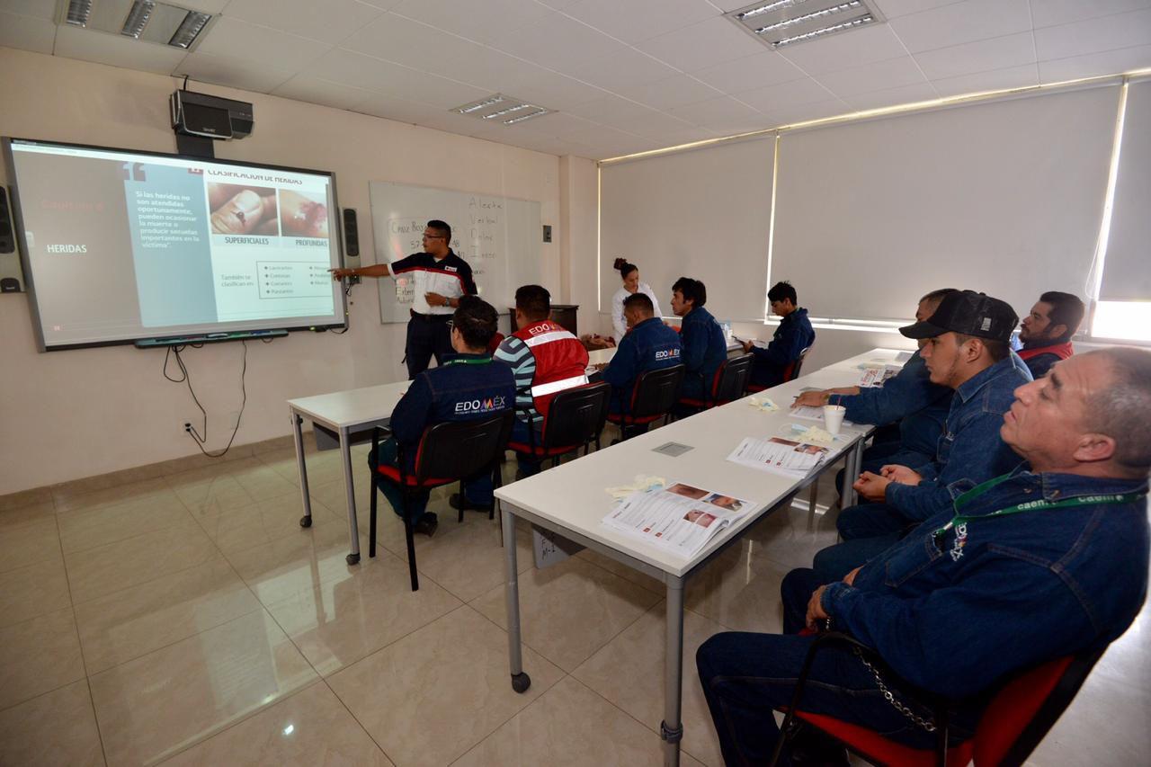 Cruz Roja capacita a personal del Grupo Tláloc para la eficiente atención de urgencias